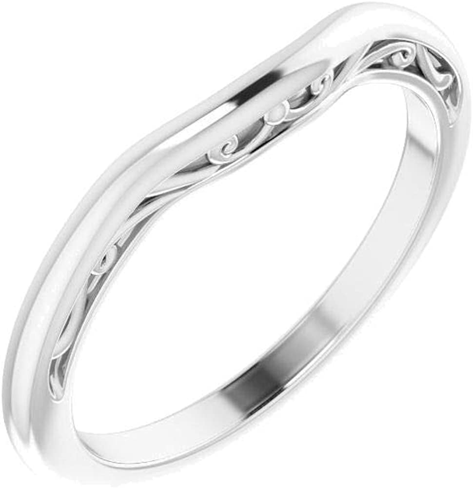 Platinum 5mm Square Wedding Ranking TOP12 Size Band Oklahoma City Mall in 7