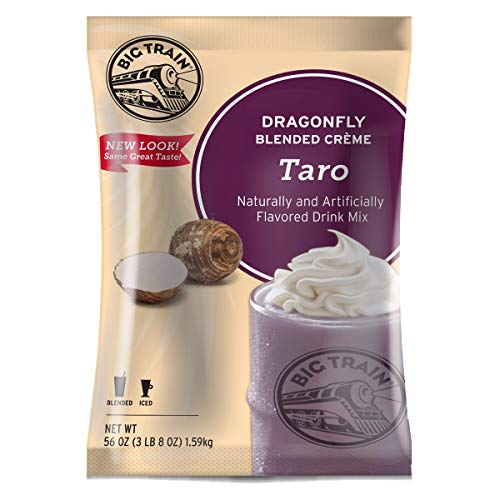 Big Train Dragonfly Blended Crème Frappe Mix, Taro, 3.5 Pound (Packaging May Vary)
