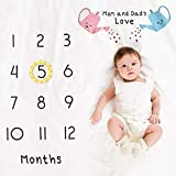 DUOCACL Coperte della Scuola Materna - Carino Decdeal Baby Mensile Milestone Coperta Neonato Photo Prop Sfondo Morbido Baby Play Mat per Ragazza e Ragazzo