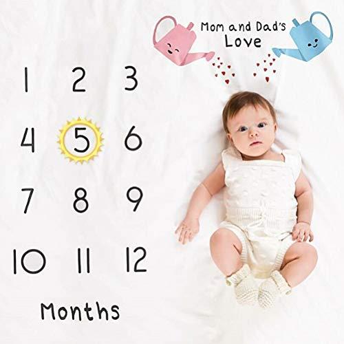Sarplle Baby Photography Blanket Large Airplane Milestone Poto Blanket Newborn Photography Props for Newborn oenbopo