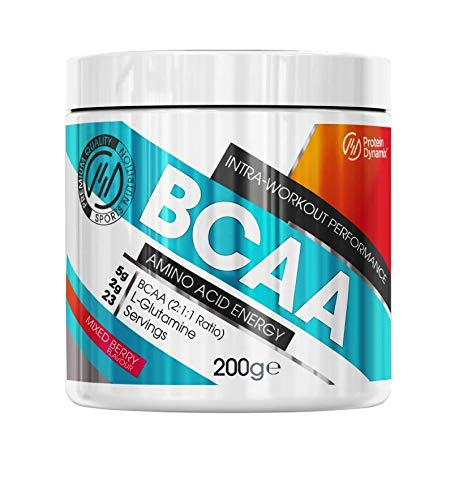 Protein Dynamix BCAA Powder Intra Workout Amino Acids 2:1:1 200g (Mixed Berry)