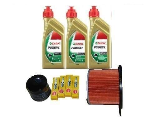 MGM Kit révision Honda Transalp 600 Huile Castrol filtre à huile air bougies