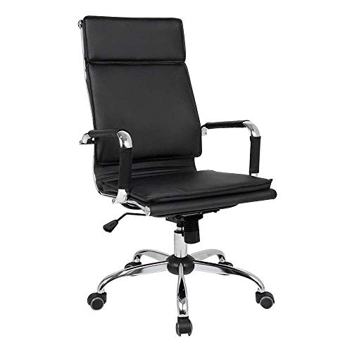ZYLZL Chair Office Computer Chair Home Game Height Adjustable Ergonomic Office Chair With Tilt Function Rotatable Game Chair Suitable For Office Meeting Room,Black,High Back