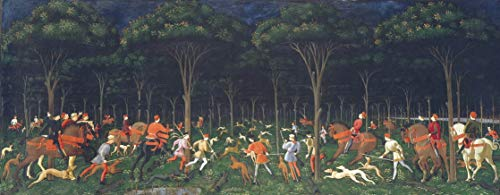 Berkin Arts Paolo Uccello Giclee Print On Canvas-Famous Paintings Fine Art Poster-Reproduction Wall Decor(Hunt in The Forest) Large Size 99.8 x 39 inches #SDFB
