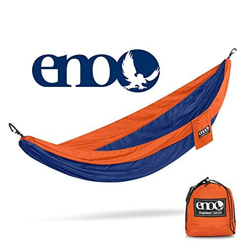 ENO, Eagles Nest Outfitters SingleNest Lightweight Camping Hammock, Orange/Sapphire