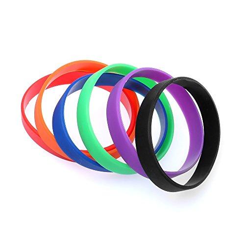 Distinct® Silikon-Gummi Männer und Frauen Sport-Armband Basketball Armband-Schwarz