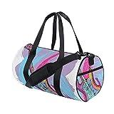 HARXISE Bolsa de Viaje,Ilustración de Guitarra eléctrica artística Moderna Musical Festiva,Bolsa de Deporte con Compartimento para Sports Gym Bag