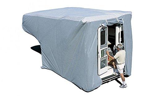 ADCO 12264 SFS Aqua Shed Truck Camper Cover - 8' to 10' Queen Bed , Gray, Medium - Queen 193'-213'