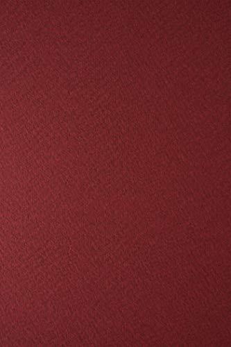 10 Blatt Dunkel-Rot Struktur-Karton 250g beidseitig filzmarkiert DIN A4 210x297 mm Tintoretto Paprika, Bastel-Karton geprägt strukturiert Designpapier Textur-Struktur Präge-Karton Struktur-Papier