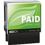 COLOP Printer 20 PAID Green Line Stamp - Tinta roja