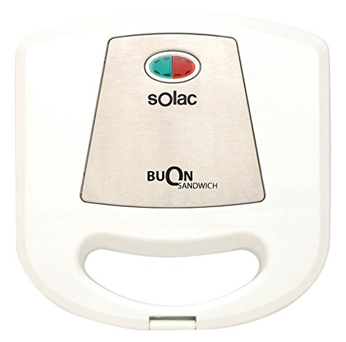 Solac sd5052Sandwichmaker, Antihaftbeschichtung), weiß
