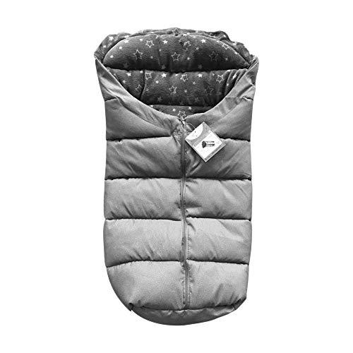 Cangaroo Cuddle Voetzak, voor kinderwagen, thermofleece, waterdichte ritssluiting grijs