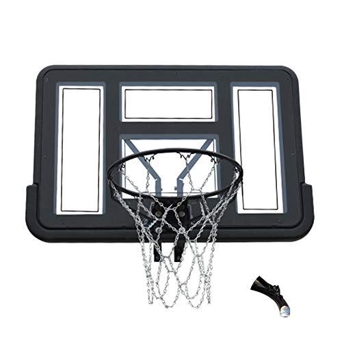 WENZHE-Basketball Obręcze bramki siatki wisząca obręcz do koszykówki wisząca na zewnątrz do wewnątrz dla dorosłych / młodzieży standardowa deska do koszykówki 110 x 75 cm