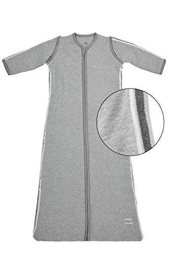 Meyco winter slaapzak 70 cm, grijs met Lurex Biese grijs