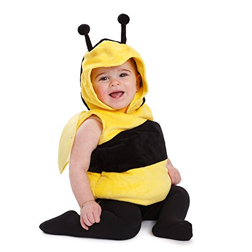 Dress Up America- Kids Little Bee traje o disfraz de abeja, Color amarillo, 0-6 months (3.5-7 kg, 43-61 cm height) (868-0-6)