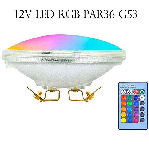RGB LED Par36 light Swimming pool Landscape 12V DC boat lighting bulb Red/Green/Blue 10W remote controller dynamic color AR111