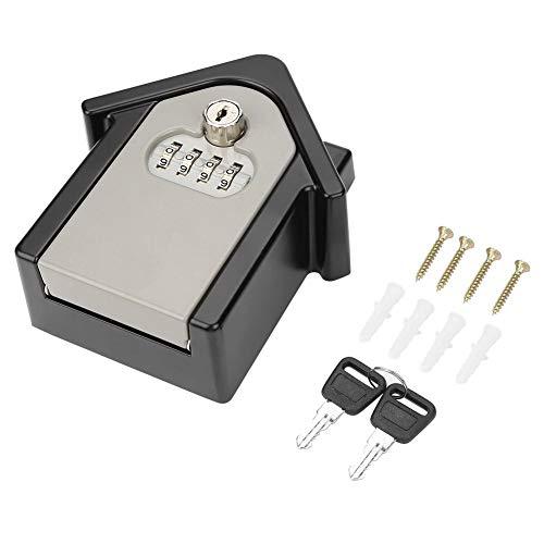 CLAUKING - Caja de Seguridad para Llaves con Cerradura de combinación de 4 dígitos y Llaves