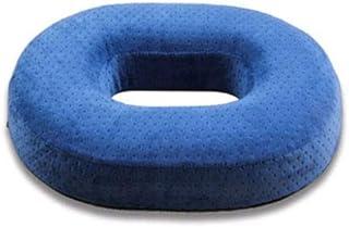 FidgetGear - Cojín de Espuma viscoelástica con Forma de Dona para aliviar el Dolor de Cadera y la hemorroides, Azul, 1