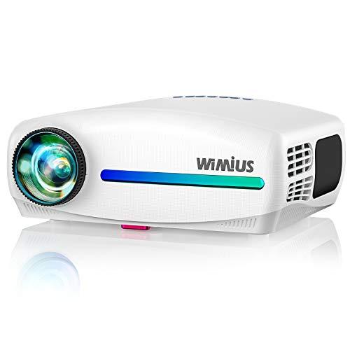 Vidéoprojecteur, WiMiUS 1920x1080P Natif Full HD 7000 Vidéo Projecteur Supporte 4K Son AC3 HiFi SoundBar Rétroprojecteur, Réglage Digital 4D, avec VGA HDMI AV USB pour Home Cinéma PS4 PPT