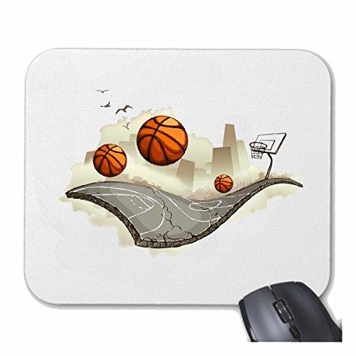 Reifen-Markt Mousepad Alfombrilla de ratón Equipo de Baloncesto Club Baloncesto Jugador de básquet Jugador para su portátil, Ordenador portátil o PC de Internet (con Windows Linux, etc.) en White