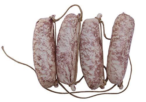 ERRO Wurstkette weiß - 12396, Salami, sehr leichte Hohlattrappe aus Spritzguss Plastik, Lebensmittelnachbildung, Fake Food, Deko, Wurstattrappe, Gastronomiebedarf