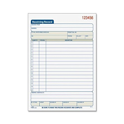 Adams Business Forms - Carbonless 2-part Receiving Record Book by Adams Business Forms