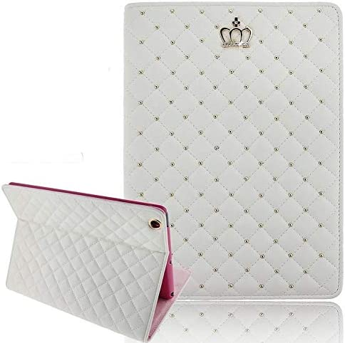 Casa iPad 9 7 2018 2017 Case for Girls Crown Design Bling Diamond Cute Elegant PU Leather Smart product image