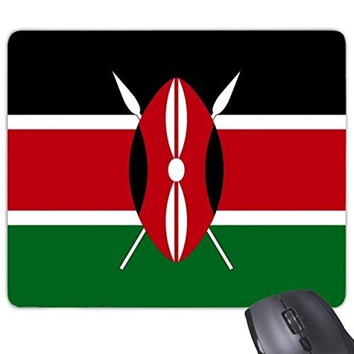 DIYthinker Kenya National Flag Africa Paese Simbolo del Punto relativo alla Trama rettangolo Antiscivolo in Gomma Mousepad Mouse Game Pad