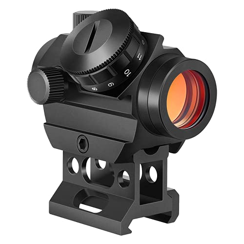 EZshoot Red Dot Sights for Rifles, 1x25mm 2MOA Red Dot Scope with 1 Inch 20mm Riser Mount Shockproof and Water Scratch Resistant