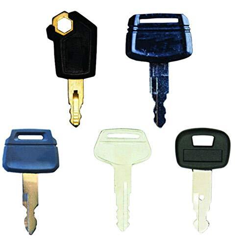 BAQI 5 Stücke Ersatz Zündschlüssel Starter Schalter für Caterpillar 5p8500, Hitachi h800, Kobelco k250, Komatsu 787, Kubota 459a Bagger schweres Gerät