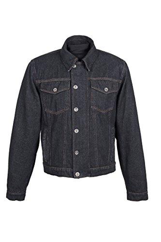 ROLEFF RACEWEAR RO1514 Jeans Motorradjacke mit Aramideinlagen & Protektoren, schwarz, Größe XXL