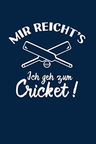 Kricket: Ich geh zum Cricket: Notizbuch / Notizheft für Cricket Bat Kricket Set A5 (6x9in) liniert mit Linien