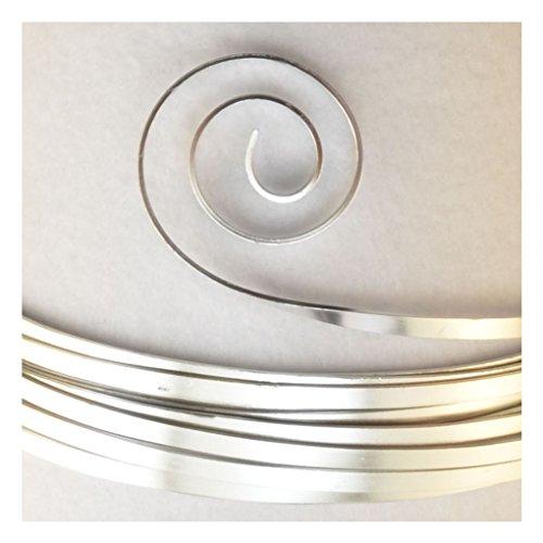 Vaessen Creative 24251-004 Aludraht Flach Schmuck, Aluminium, Silber, 250 x 1 x 0.021 cm