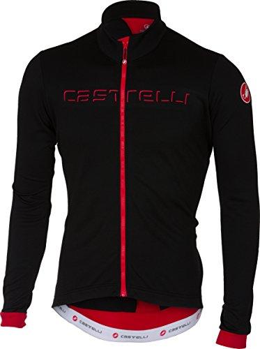 Castelli Maillot De Ciclismo De Manga Larga 2018 Fondo Fz Negro-Rojo (L,...