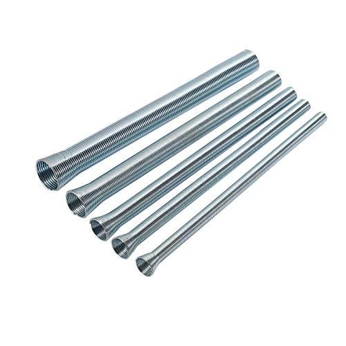 Iycorish Máquina de flexión de tubo de 5 piezas, 210 mm, muelle de tracción, máquina de doblado de 1/4 pulgadas y 5/8 pulgadas, muelle de acero, para cobre y aluminio