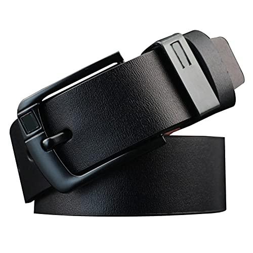 Xiaorong Cinturón de cuero de los hombres Pin de aleación retro D en forma de hebilla de mezclilla regalo para hombres
