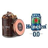 4700BC Gourmet Popcorn, Nutty Tuxedo Chocolate, Tin, 125g, with Heineken 0.0 CAN, Zero Alcohol, 330ml
