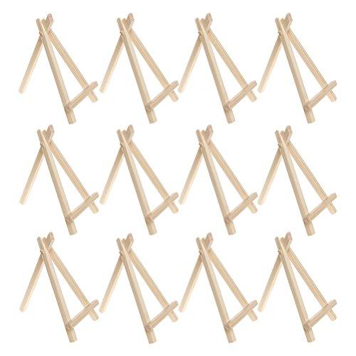 Sicai Mini-Holzstaffelei für Hochzeitsplatzkärtchen, Menükartenhalter oder Mini-Gemälde, 12Stück, 15,2cm