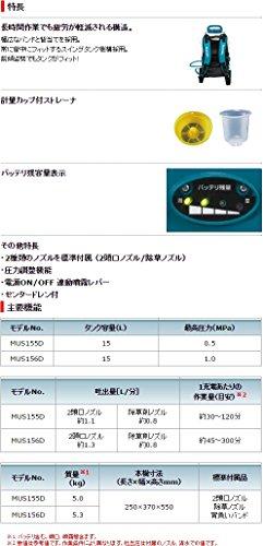 マキタ 充電式噴霧器 バッテリBL1830 充電器DC18RC付