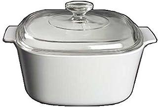 Corning Ware White Coupe Square Casserole w/ Lid ( 3 Quart ) ( A-3-B )
