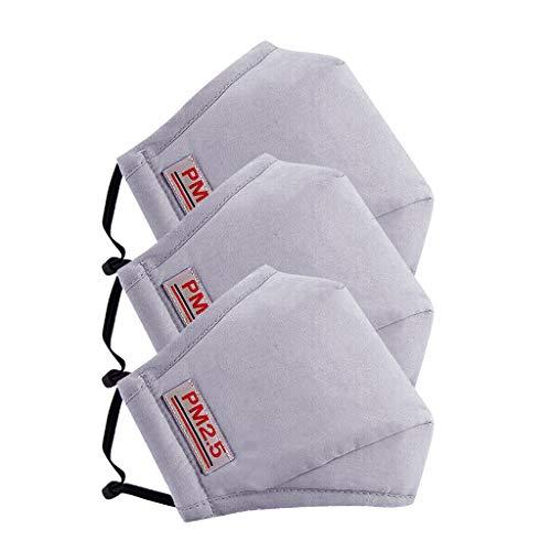 Lazzgirl Reutilizable y Lavable con Carbón Activado Filtro Antipolvo Antivaho Actividades al aire libre Pack 3 unidades