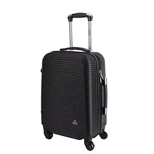 InUSA Royal 24 Inch Medium Hardside Spinner Luggage with Ergonomic Handles, Travel Suitcase with Four Spinner Wheels and Studs, Black