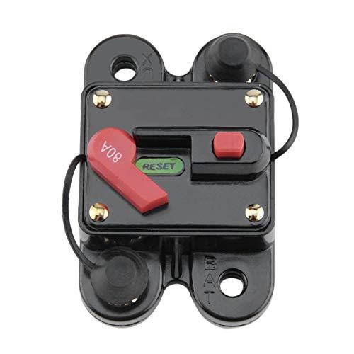 Deniseonuk Circuit Breaker, Auto Audio-Konvertierer mit Schalter Automatische Sicherungshalter Spannungsschutz Hochspannung automatische Wiederherstellung Schutzschalter für 12V Schutz SKCB-01-100A