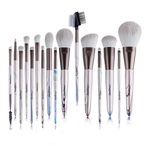 HUADA Pinceau de maquillage 16PCS Maquillage avancée Brosse de maquillage synthétique professionnel Pinceau for le maquillage du visage et des yeux