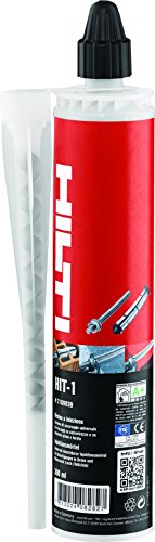 Hilti montagemörtel Hit - 1 cartridge 300 ml - injectiemortel 2K mortel - verwerking met standaard afdichtmiddel spuitpistool