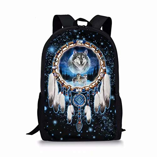 chaqlin Wolf Rucksack Kinder Schultasche Cool Animal Bookbags Elementary Bookbags Casual für 1. - 6. Klasse Mädchen Kinder Jungen