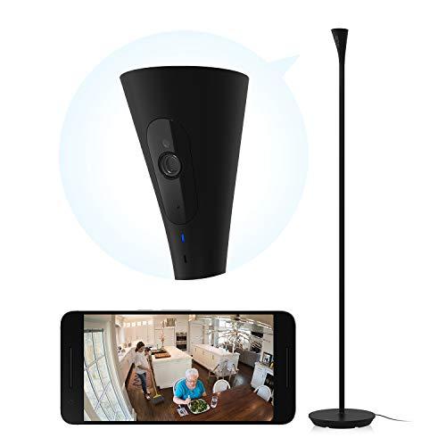 Panasonic HomeHawk FLOOR Home Monitoring HD Camera for Senior Care, Motion Detection Night Light, 2-way Talk, 24/7 Live View + Secure Recording, Alexa Compatible - KX-HNC850 (Black Satin)