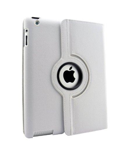inShang Hülle für Apple iPad 2 iPad 3 iPad 4, Edles PU Leder Tasche Hülle Skins Etui Schutzhülle Ständer Smart Hülle Cover für Tablet iPad2 iPad3 iPad4, Super Automatische Einschlaf-/Aufwach funktion, 360 Grad rotierende Schutzhülle mit Standfunktion