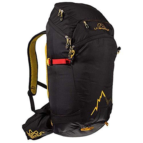 La Sportiva Sunlite Backpack Mochila, Adultos Unisex, Black/Yellow (Multicolor), Talla Única