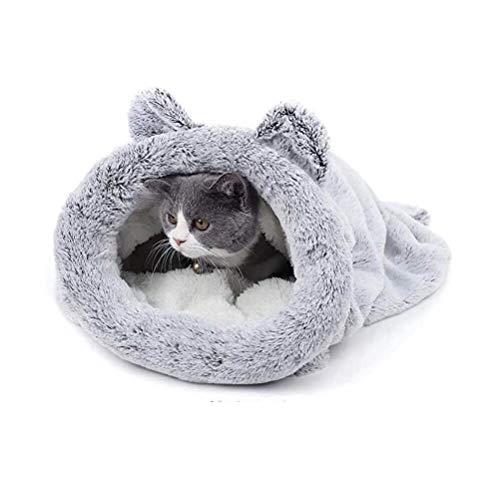 bingopaw 猫用寝袋 トンネル 洗える 冷房対策 ペットベッド小型犬 ふわふわ かわいい ドーム クッションマット 猫用ベッド 深い おしゃれ 大きめ 耐噛み 冬/通年 寝床 防寒 保温